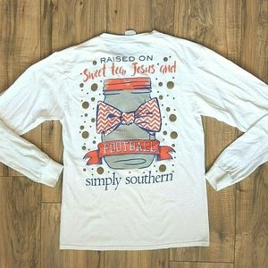 Simply Southern Women's Shirt Size Small White